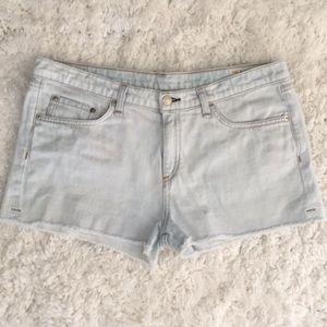 rag & bone High Rise cut off shorts Bleach Out 31